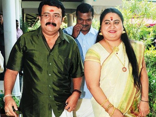 Saikumar with Bindu Panicker