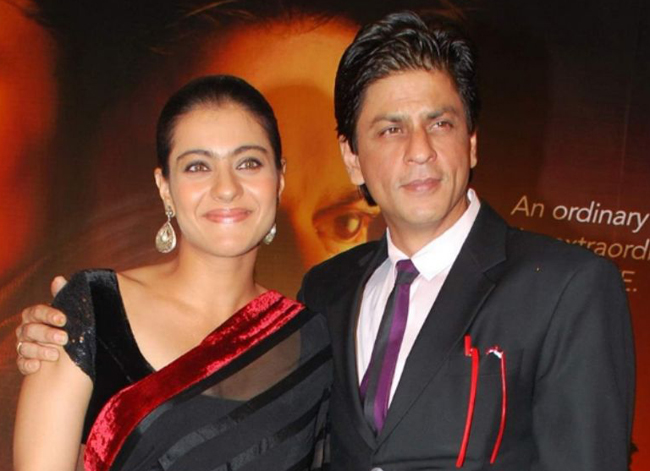 Bollywood actors Shah Rukh Khan and Kajol
